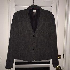 Chico's gray jacket.